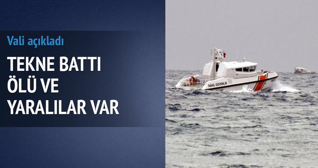 Muğla'da tekne battı: Ölü ve yaralılar var!