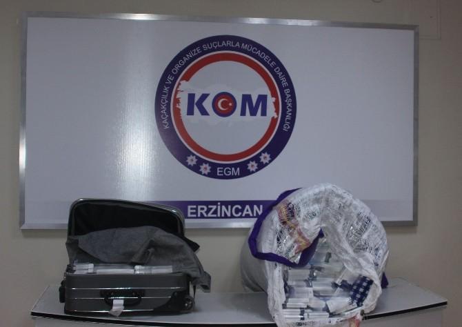 Erzincan'da Bin 44 Paket Kaçak Sigara Ele Geçirildi