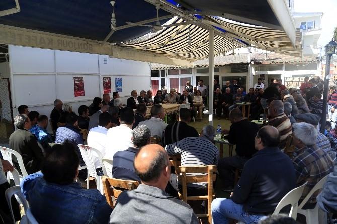 Başkan Tollu, Kızkalesi'nde Esnaf Ve Vatandaşla Buluştu