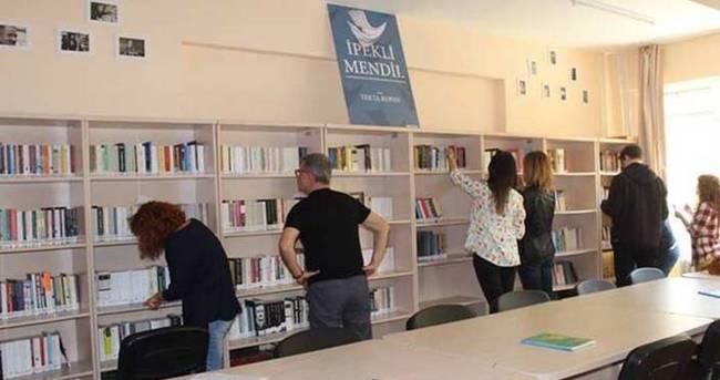 'İpekli Mendil Kütüphanesi' Antakya'da açıldı