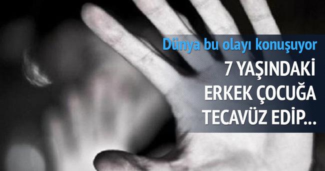 7 yaşındaki erkek çocuğuna tecavüz edip yaktılar