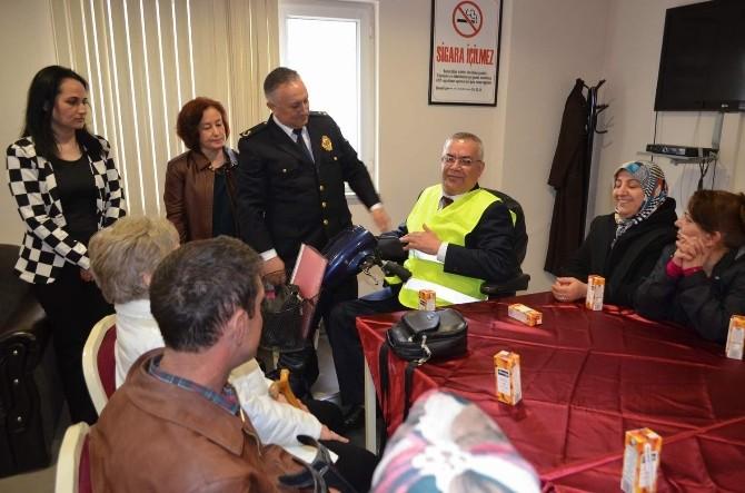 Bozüyük'te Engelliler Derneği'nden İlçe Emniyet Müdürlüğü'ne Ziyaret