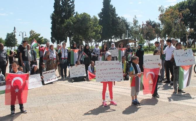 Mersin'de Yermuk Kampı Protestosu