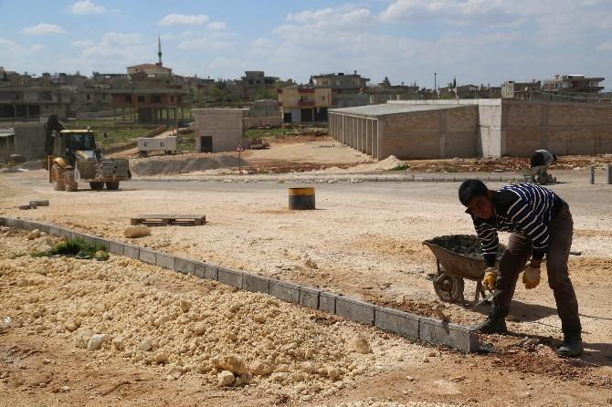 Halfeti'de Bozuk Yollarda Düzenleme Yapılıyor
