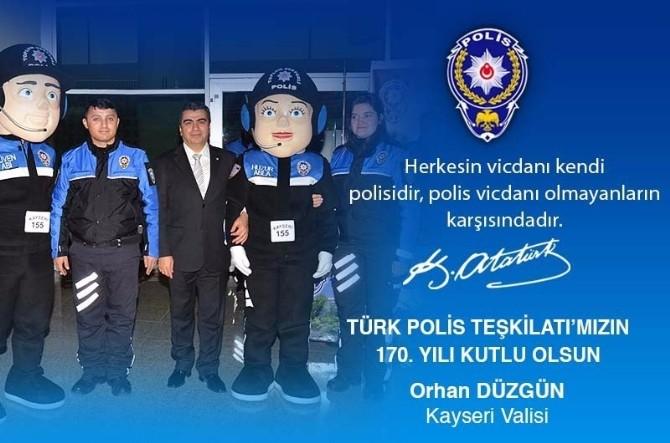 Vali Orhan Düzgün'ün 10 Nisan Polis Günü Kutlama Mesajı