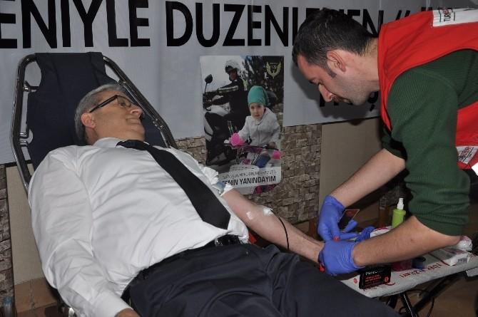 Giresun Emniyeti'nden Kızılay'a Kan Bağışı