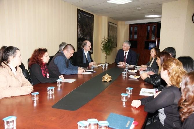 Başkan Vekili Özak, Makedonya Üniversitesi'nden Konukları Ağırladı
