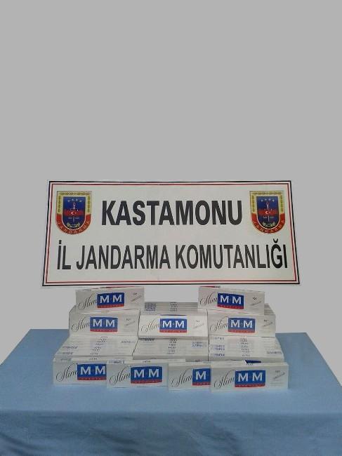 Tosya'da 710 Paket Kaçak Sigara Yakalandı