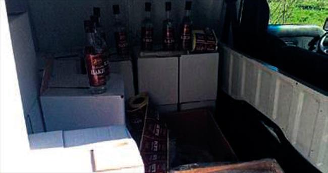Bayraklı'da sahte içki operasyonu