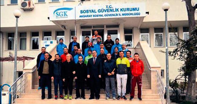 'Malnütrisyon' meşalesini atletler Aksaray'a ulaştırdı