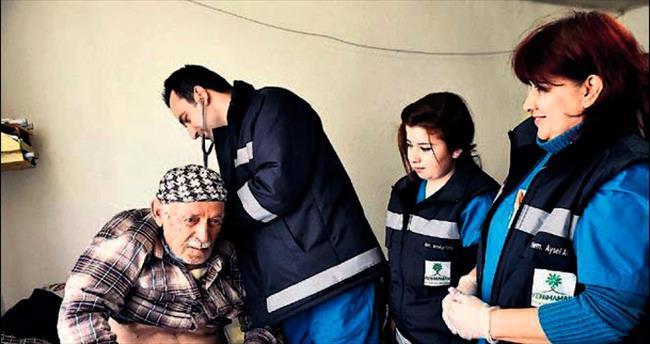 Mamak'ta yaşlılar evde hizmeti sevdi