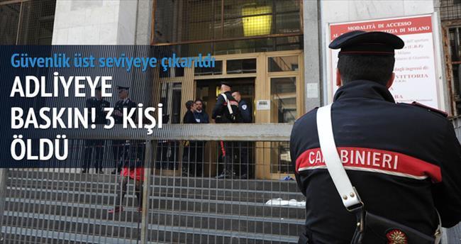 Milano'da adliyeye baskın: 3 ölü