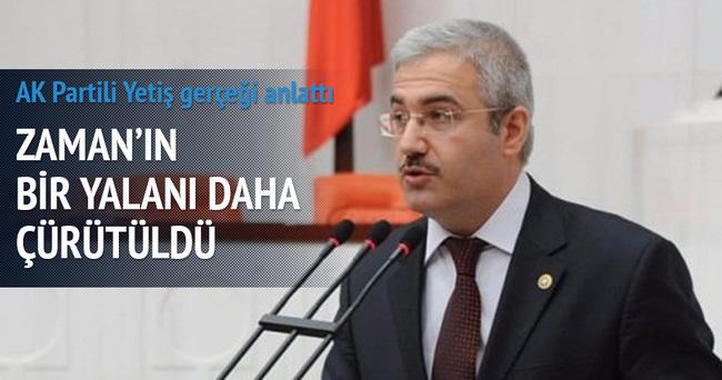 AK Partili Yetiş Zaman'ı yalanladı
