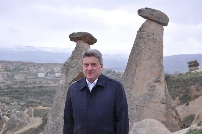 Makedonya Cumhurbaşkanı İvanov, Peribacalarını Gezdi