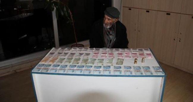 Dilencinin üzerinde bin 770 lira çıktı