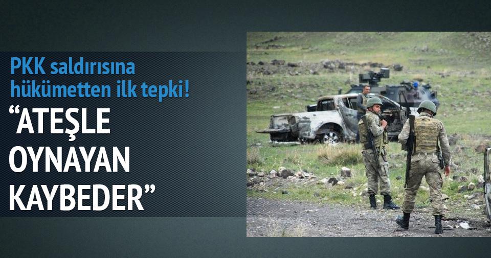 PKK saldırısına hükümetten ilk tepki!