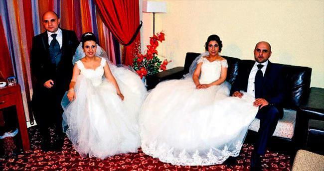 İkizlerden çifte düğün