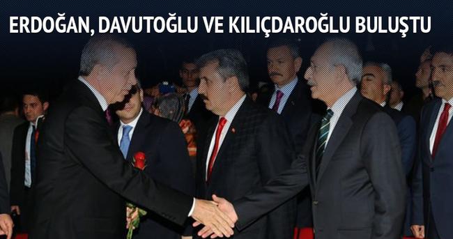 Erdoğan, Çiçek, Davutoğlu ve Kılıçdaroğlu buluştu
