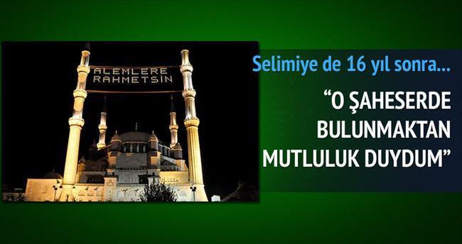 Selimiye'ye, 16 yıl sonra mahya