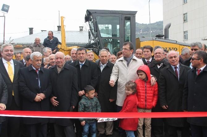 Kardeş Belediyelerden Düzköy Belediyesi'ne İş Makinesi Desteği