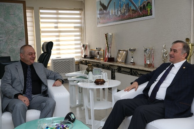 Akçay'dan Başkan Ergün'e Ziyaret