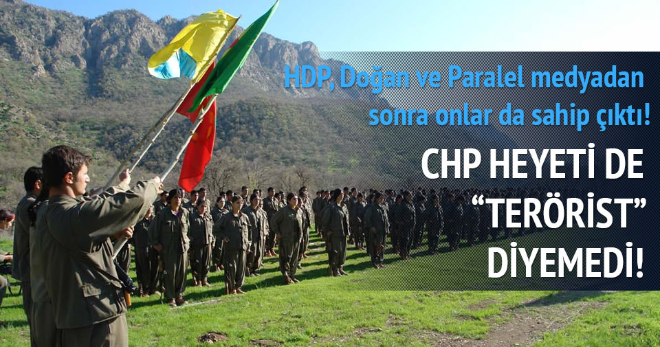 CHP heyeti de 'Terörist' diyemedi