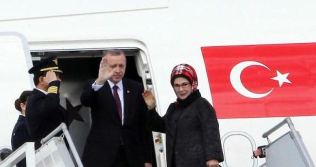 Cumhurbaşkanı Erdoğan Kazakistan'a geldi