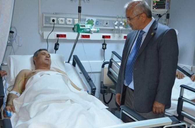 Milletvekili Demir, Kalp Krizi Geçiren Başkan Şaşmaz'a Ziyaret Etti