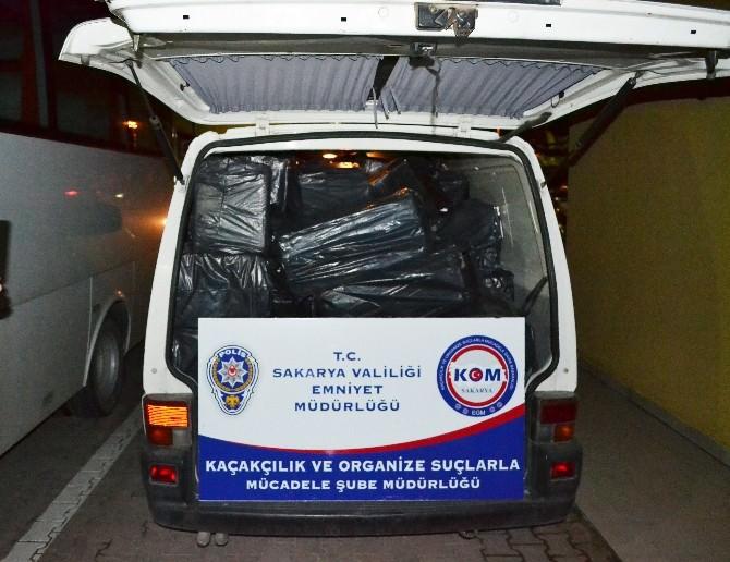 Sakarya'da 34 Bin 680 Paket Kaçak Sigara Ele Geçirildi