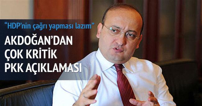 Yalçın Akdoğan'dan çok kritik PKK açıklaması