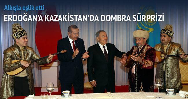 Erdoğan'a Kazakistan'da Dombra sürprizi