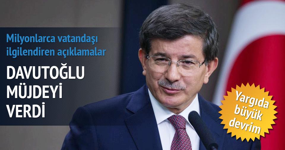 Davutoğlu Yeni Yargı Reformu'nu anlattı