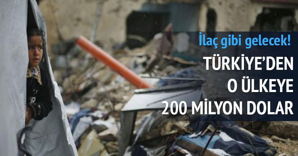 Türkiye'den Gazze'ye 200 milyon dolar