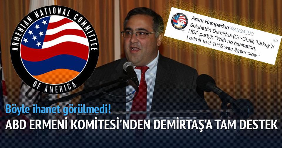Amerika Ermeni Ulusal Komite Başkanı'ndan Demirtaş'a tam destek