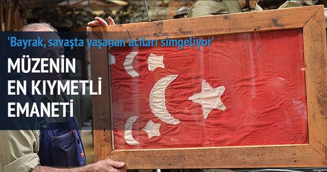 Müzenin en kıymetli emaneti Osmanlı bayrağı