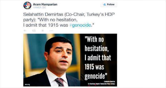 HDP Ermeni lobisi ile kol kola