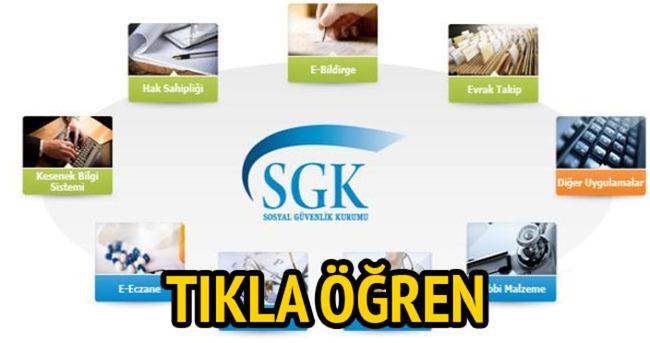 SGK hizmet dökümü alma işlemi! SSK gün sorgulama