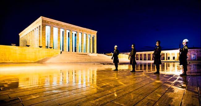 Anıtkabir çevresinde 23 Nisan öncesinde özel temizlik