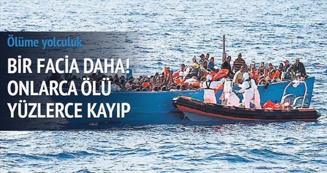 Göçmen teknesi battı: 24 ölü, yüzlerce kayıp
