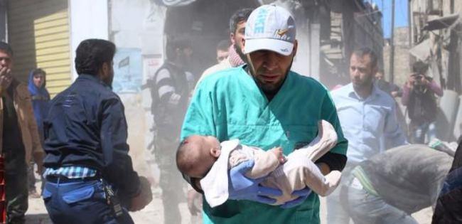 Esad sivillere varil yağdırdı