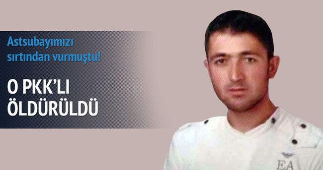 Astsubayı şehit eden PKK'lı öldürüldü!