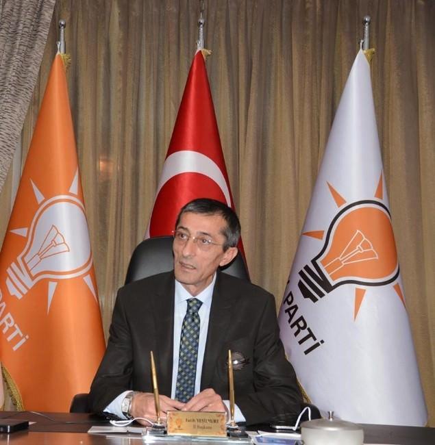 AK Parti İl Başkanı Yeşilyurt'tan Üç Aylar Ve Regaip Kandili Mesajı
