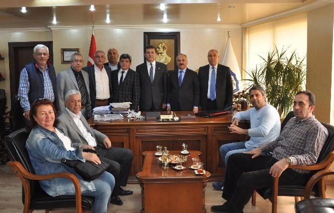 Başkan Özyiğit'ten, Talat Dinçer'e Ziyaret