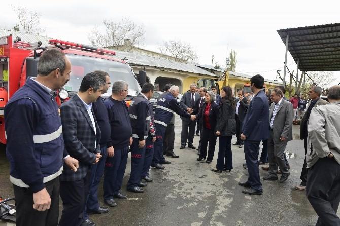 Başkan Kışanak, İtfaiye Aracını Lice'ye Teslim Etti