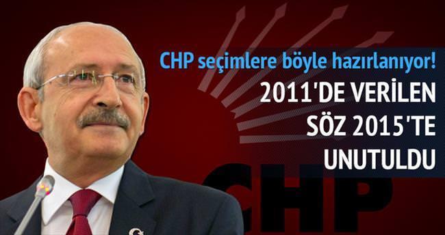 CHP 2011'de verdiği sözü 2015'te unuttu