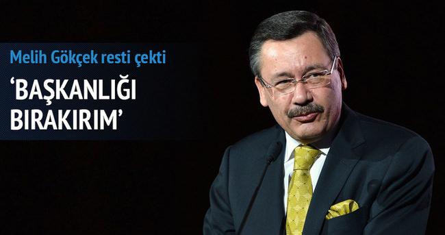 Melih Gökçek'ten 'belediye başkanlığını bırakırım' resti