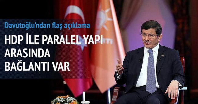 Davutoğlu: HDP ile Paralel yapı arasında irtibat var