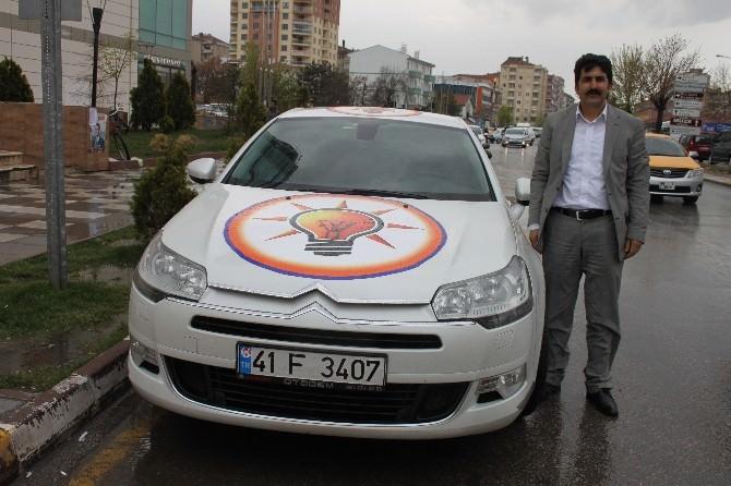 AK Parti İçin Arabasıyla Yola Çıktı