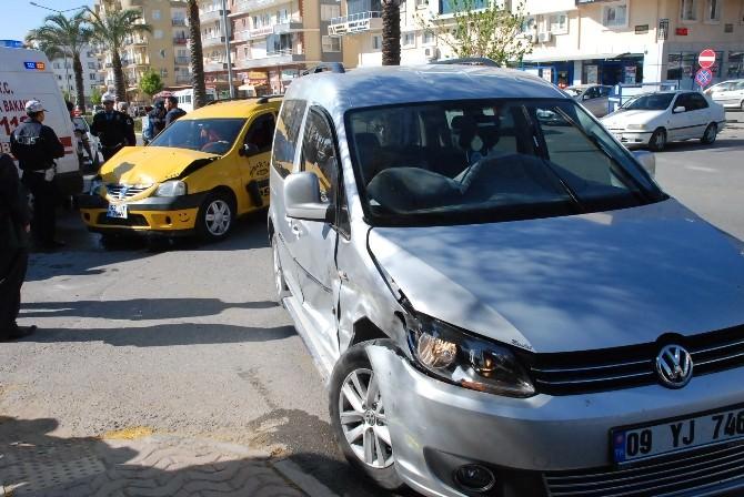 Didim'de Trafik Kazası Korkuttu