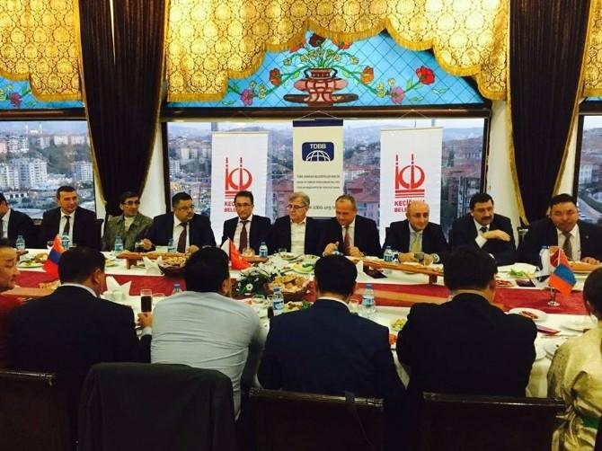 Başkan Saka, Kardeş Kentimiz Moğolistan'ın Erdenet Belediye Başkanı Ishvaanjil İle Bir Araya Geldi